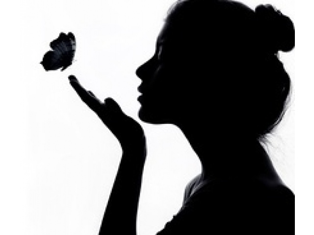 Woman Crying Silhouette